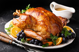 Festive celebration roasted turkey for Thanksgiving - 182614277