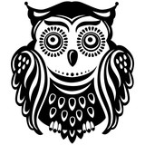 Stylized decorated owl
