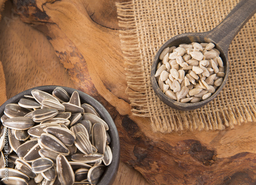 Fototapeta Sunflower seeds - Helianthus annuus