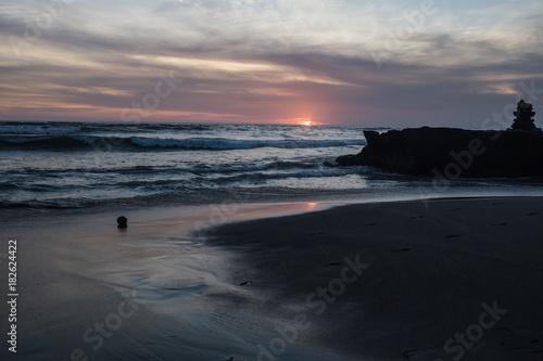 Foto op Canvas Zee zonsondergang Sunset