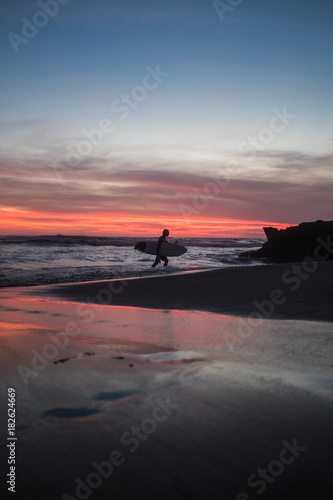Fotobehang Strand Sunset