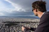 Vue depuis le Mont Lycabette, Athènes, Grèce - 182629083
