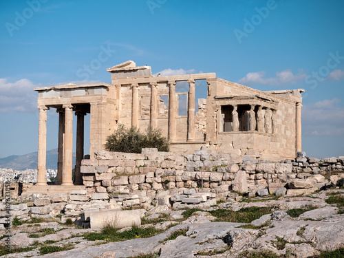 Staande foto Athene The Erechtheum with Caryatids in Acropolis