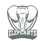 Elephant logo mascot design vector sport team - 182641270