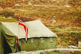 Tent in Haukeli mountains, Norway