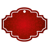decorative christmas label bright snowflake seasonal design vector illustration - 182656099