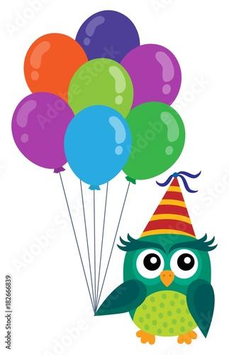 Plexiglas Uilen cartoon Party owl topic image 5