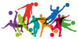 football - foot - footballeur - silhouette - but - ballon - coupe du monde - sportif - affiche - gardien de but - 182668847