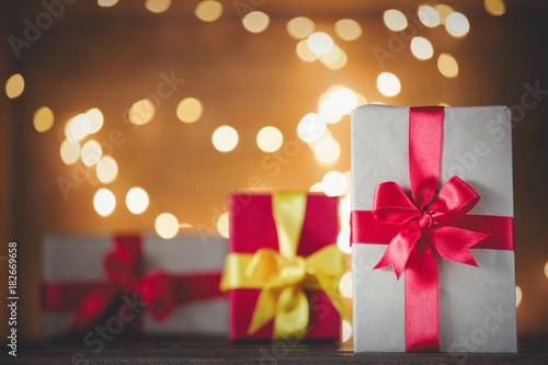 Present box and Fairy Lights
