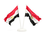 Two waving flags of egypt - 182674403