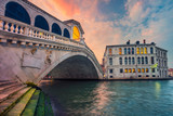 Venice. Cityscape image of Venice with famous Rialto Bridge and Grand Canal. - 182680278