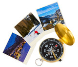 Mountains ski Austria images and compass - 182684068