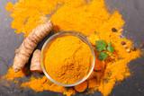 curcuma, powder and root - 182687227
