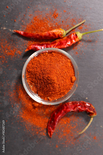 Fotobehang Hot chili peppers chili,red pepper-chili powder