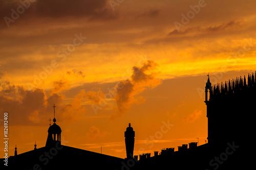 Silhouette of Doge's Palace, Venice © robertdering