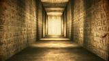 Egyptian Tunnel Hieroglyphs Corridor Vintage - 182692690
