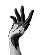 female hand in black oil - 182694441