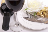 Wine and dishes - 182701254