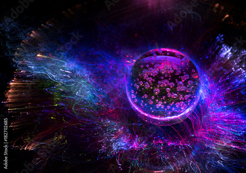 Fototapeta space background Cosmic galaxy and planet