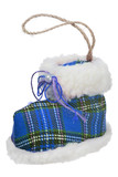 isolated blue shoe as new-year tree decoration - 182703261