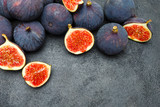 Fig isolated on dark concrete background - 182704066