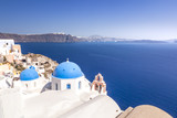 typical view at Oia Santorini Greece - 182706249