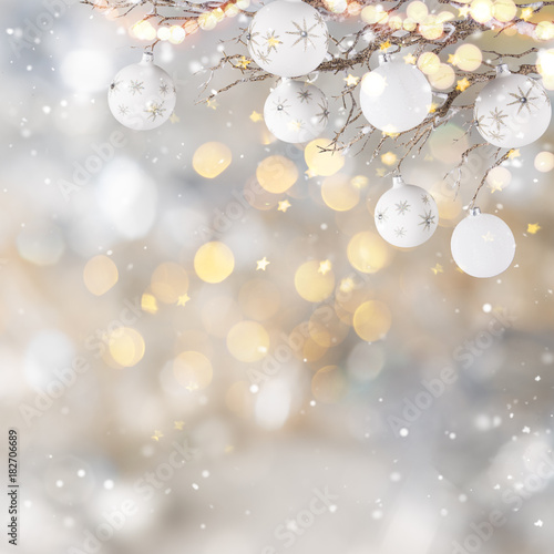 Christmas decoration with blurred background - 182706689