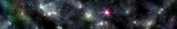 Panorama of the universe, starry landscape, beautiful galaxies, banner