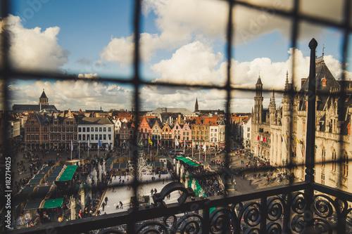 Fotobehang Brugge Bruges christmas market