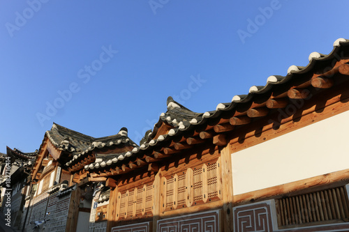 Tuinposter Seoel Eaves of Gyeongbokgung Palace in Seoul