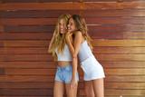 Best friends teen girls having fun together - 182718016