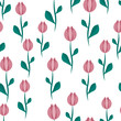 Seamless background with tulips. - 182718830