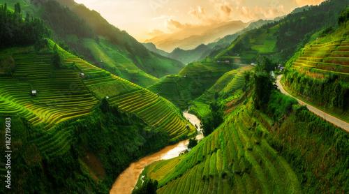 Fotobehang Landschappen Mu Cang Chai