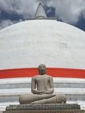 Statue bouddha stupa