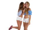 Teen best friends girls happy together - 182721227