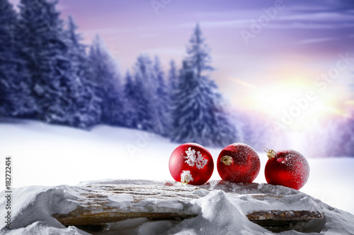 Foto op Plexiglas Purper christmas background