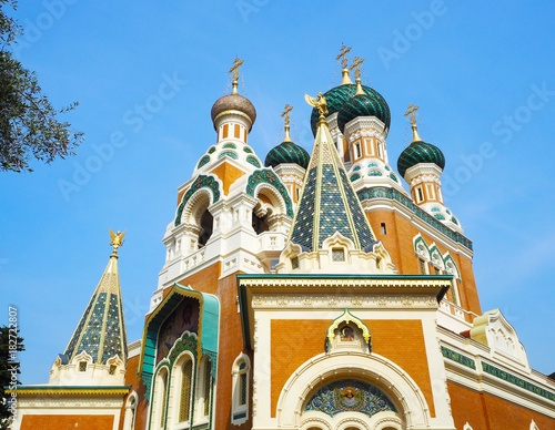 Foto op Aluminium Nice The St. Nicholas Orthodox Cathedral, Russian orthodox church, Nice, France