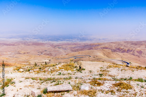 "the "" promised land"" from Mount Nebo, Jordan. Poster"
