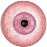 Eyeball with pink iris