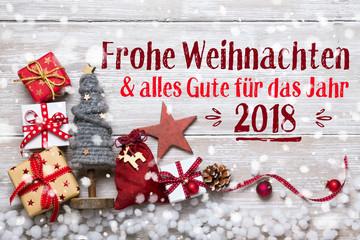 Frohe Weihnachten - Grußkarte