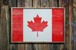 Wooden Canada flag