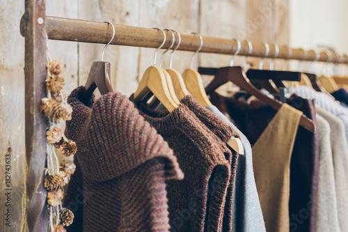 conscious ethical fashion trend concept warm winter ladies