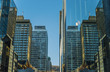 Symmetrical reflection of tall buildings
