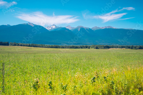 Fotobehang Blauw Rocky Mountains