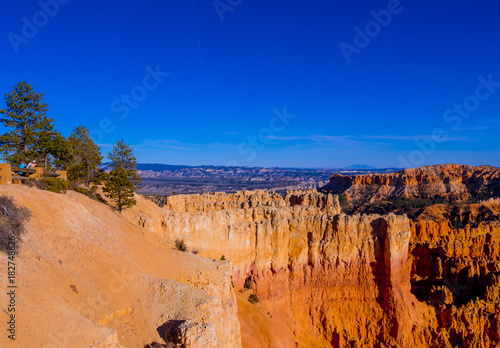 Poster Oranje eclat Most beautiful places on Earth - Bryce Canyon National Park in Utah