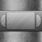 metal plate background - 182749491