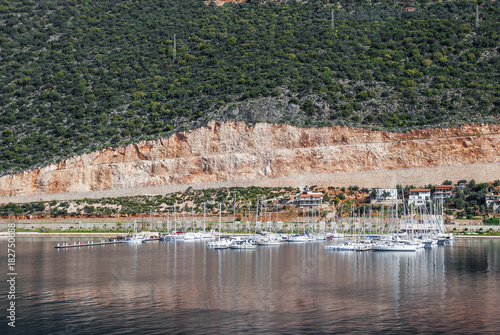 port of Kash on the Mediterranean coast of Turkey, the center of the district of the province of Antalya.