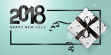 Vector illustration of New Year 2018 greeting card. Design template for greeting card, web banner, flayer brochure, party invitation card. - 182751435