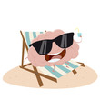 funny cartoon brain relaxing - 182762479