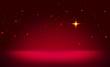Christmas star and red abstract sky. - 182764650